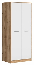 Skapis Black Red White Matos Wotan Oak/White, 80x54.5x189 cm