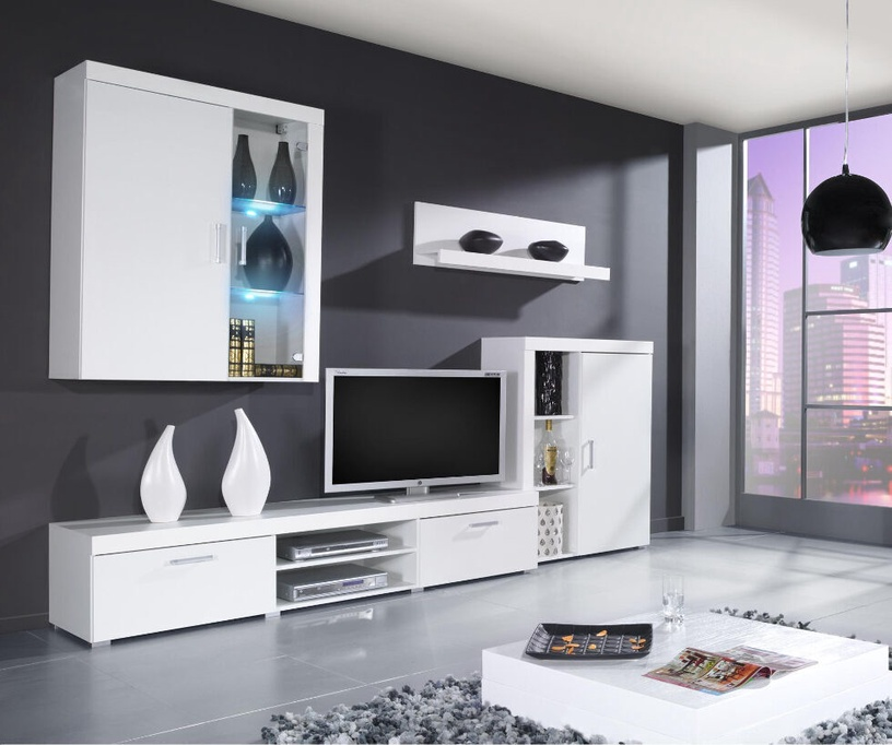 ТВ стол Cama Meble Samba, белый, 2000x450x390 мм