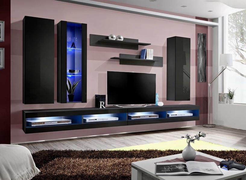 Dzīvojamās istabas mēbeļu komplekts ASM Fly Q9 Black