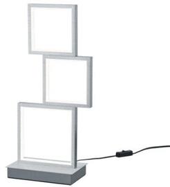 Trio Sorrento matēta alumīnija krāsu galda LED gaismeklis 15W, 1500lm, 3000K, trīspakāpju slēdža aptumšošanas funkcija