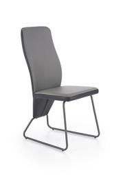 Стул для столовой Halmar K - 300, черный/серый