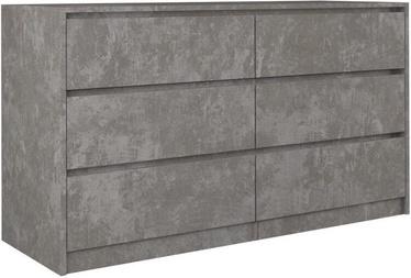Комод Top E Shop Karo K140, серый, 138x40x75 см