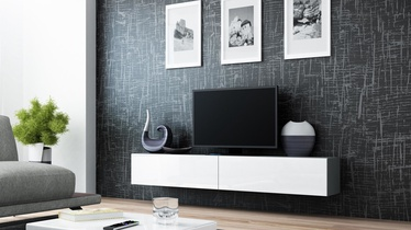 ТВ стол Cama Meble Vigo 180, белый/серый, 1800x300x400 мм