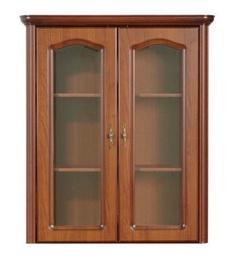 Шкаф-витрина Black Red White Natalia NAD100, коричневый, 96x45x111 см
