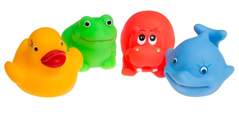 Vannas rotaļlieta Tullo Rubber Animals 034, 4 gab.