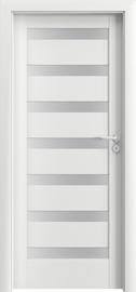 Полотно межкомнатной двери PORTAVERTE D7, белый, 203 см x 74.4 см x 4 см