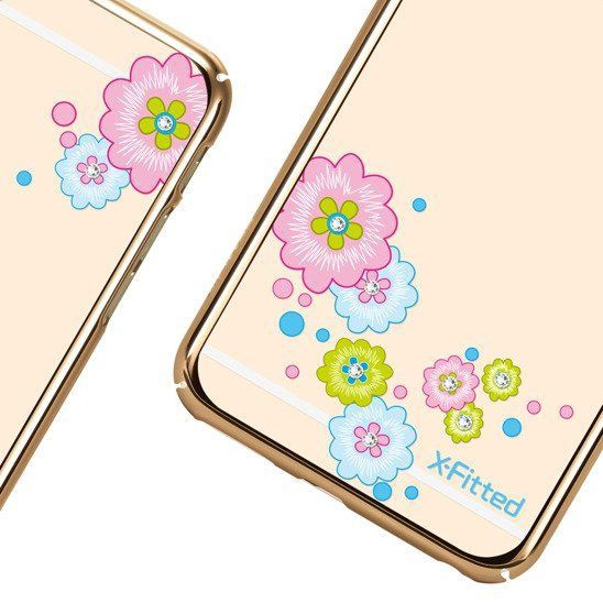 X-Fitted Flourishing Bloom Swarovski Crystals Back Case For Apple iPhone 6/6s Gold