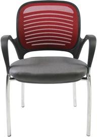 Apmeklētāju krēsls Home4you Torino 27707 Gray/Bordeaux