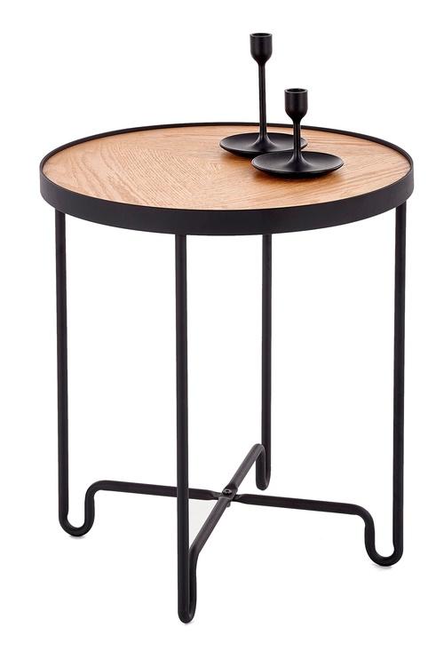 Kafijas galdiņš Halmar Elva Natural, 440x440x500 mm