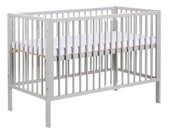 Детская кровать Klups Radek X Grey, 120x60 см