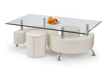 Журнальный столик Halmar Nina 3H White, 1300x700x550 мм