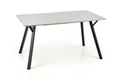 Pusdienu galds Halmar Balrog Balrog, melna/pelēka, 1400x800x740mm
