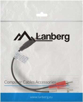 Lanberg Cable 3.5mm / RCA x2 0.2m