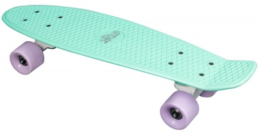 Скейтборд No Rules Fun, зеленый/фиолетовый