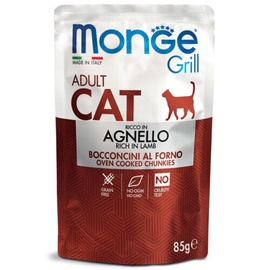 Monge Grill Pouch Chunkies In Jelly Rich In Lamb Adult 85g