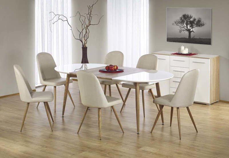 Ēdamistabas krēsls Halmar K214 Dark Cream/Honey Oak