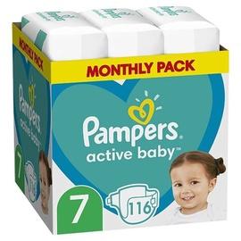 Autiņbiksītes Pampers Active Baby, 7, 116 gab.