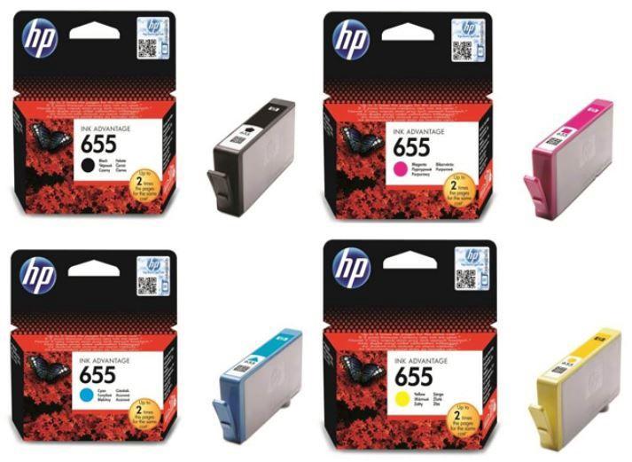HP Ink Cartridge 655 Cyan