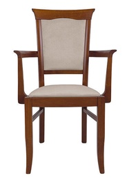 Ēdamistabas krēsls Black Red White Kent P, smilškrāsas