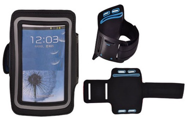 Telone Universal 8-15 Armband Pouch Case For Fitness Black