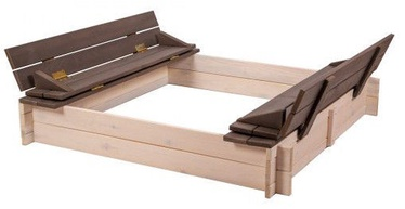 Folkland Timber Sandbox Four Corner With Foldable Lid White/Graphite