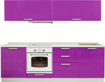 Virtuves komplekts MN Prestiz Purple, 2.4 m