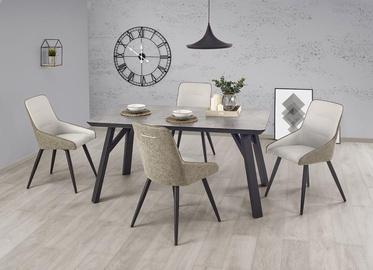 Обеденный стол Halmar Halifax, черный/серый, 1600x900x760мм