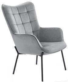 Кресло Halmar Castel l, черный/серый, 71 см x 97 см x 79 см