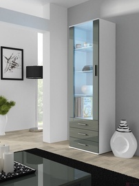 Cama Meble Soho S1 Display Unit White/Grey Gloss