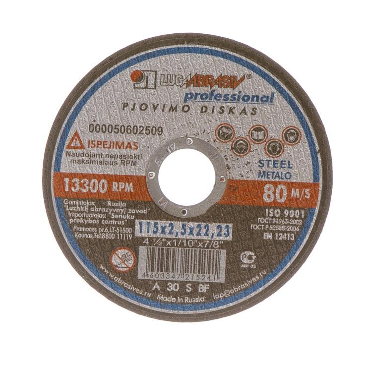 Griezējdisks metālam Luga Abraziv 14A, 115x2,5x22mm
