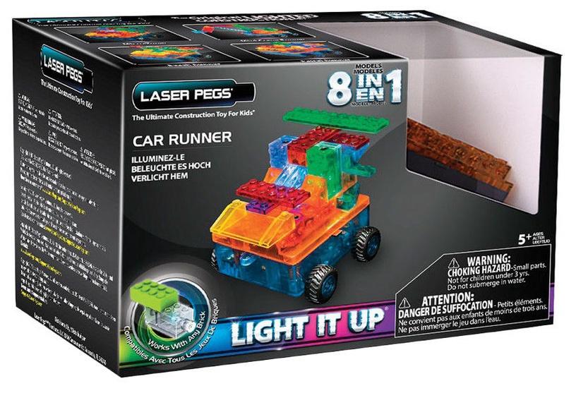 Laser Pegs 8 in 1 Car Runner