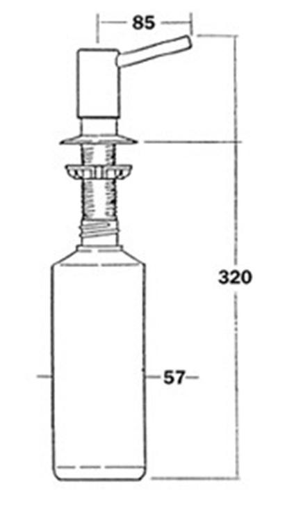 Дозатор для жидкого мыла Teka HC20CPB