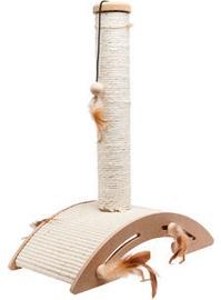 Skrāpis kaķiem Karlie Flamingo Sisal+Toy Ella, 40x21x52 cm