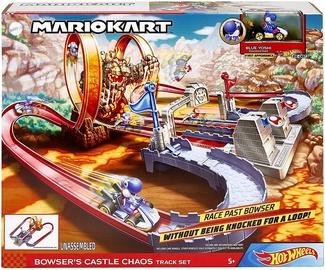 Автомобильная трасса Hot Wheels Mario Kart Bowsers Castle Chaos Track Set