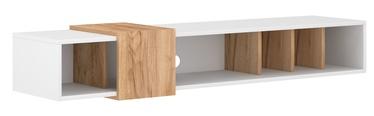 ТВ стол Vivaldi Meble Ronda, белый/дубовый, 1500x350x250 мм