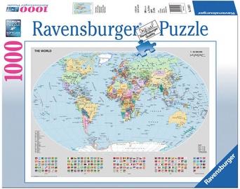 Puzle Ravensburger Political World Map, 1000 gab.