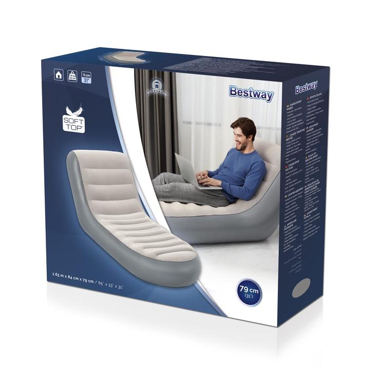 Krēsls piepūšams Bestway Chaise Sport, 164 x 84 x 79 cm