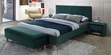Кровать Signal Meble Azurro Velvet Green, 160 x 200 cm