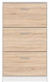 Apavu plaukts Black Red White Nepo Plus White/Sonoma Oak, 700x175x1200 mm