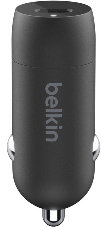 Belkin Boost USB Type-C Car Charger + Apple Lightning To USB Type-C Cable 1.2m Black