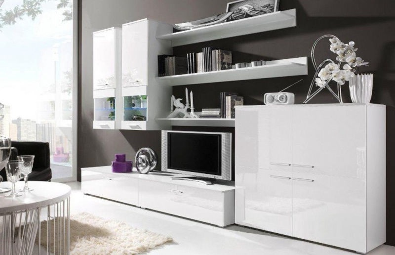 Cama Meble Modular System Como Without Lights White