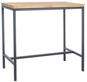 Bāra galds Signal Meble Metro Dab/Black, 1100x600x1000 mm