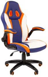 Игровое кресло Chairman Game 15 Blue/White/Orange