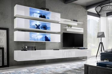 Dzīvojamās istabas mēbeļu komplekts ASM Fly J3 White