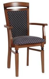 Ēdamistabas krēsls Black Red White Bawaria P, brūna