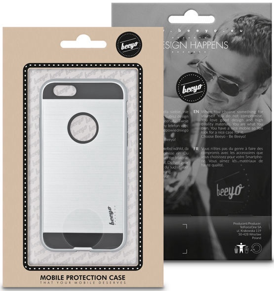Beeyo Armor Case For Apple iPhone X/XS Silver