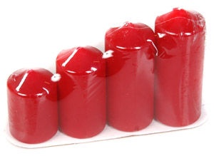 Verners Christmas Advent Candles Bordo 234620