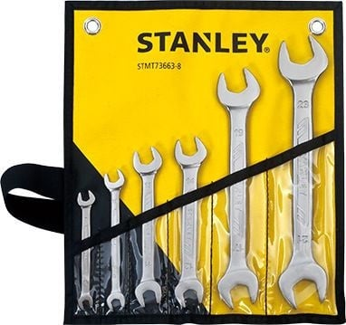 Stanley Double Open-End Wrench Set 6pcs