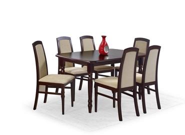 Обеденный стол Halmar Arnold, вишневый/ореховый, 1500 - 1900x800x750мм