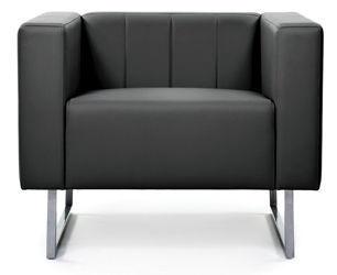 Кресло Chairman, черный, 85x75x68 см